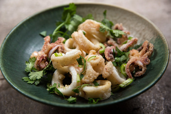 ... sesame lime mayonnaise five spice fried calamari with sesame and lime