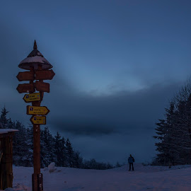 Directory by Martin Jahn - Landscapes Travel ( mountain, directory, beskydy, czech republic, cloudy )