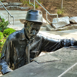 Hoagie Carmichael by Linda Ensor - Novices Only Objects & Still Life ( statue, hoagie carmichael, outdoors, scupture, indiana university )