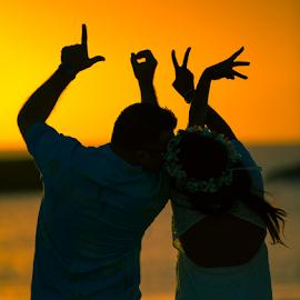 by Leah Varney - Landscapes Sunsets & Sunrises ( love, wedding photography, sunsets, couple )