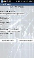 Screenshot of Dove Mi Trovo?