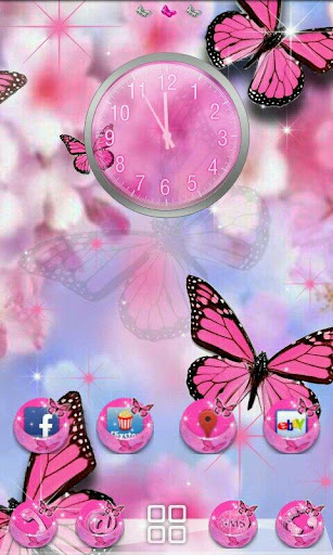 GO Theme - Pink Butterfly PRO