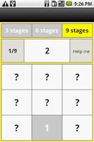 Screenshot of 81 numbers ascend memory