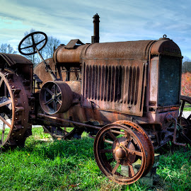 Rust Bucket by Calvin Morgan - Transportation Other ( farm equiptment, rust, nikon d7000, tractor )