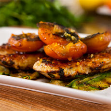 Mediterranean-style Pan Roasted Chicken With Grilled Apricot