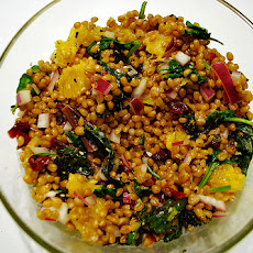 Wheat Berry Salad With Dried Cherries and Apricots