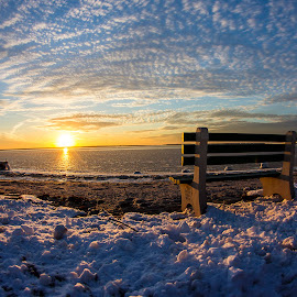 Frozen on the bay by Dave Nilsen - Landscapes Sunsets & Sunrises