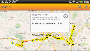 Screenshot of UK Bus Times Live: Bus Scout