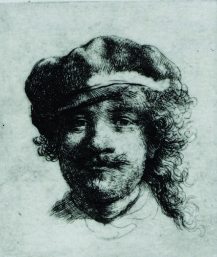 These weren't the only works by Rembrandt stolen from the museum in 1990. A framed self-portrait in ink was also taken.  This tiny etching is barely bigger than a postage stamp.