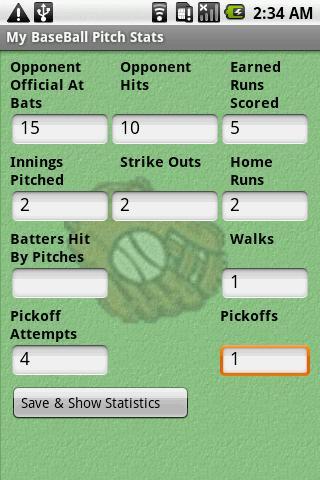 My BaseBall Pitch Stats