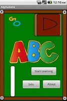 Screenshot of Alphabets Board