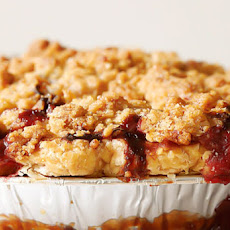 Strawberry Rhubarb Pie with Ginger Crumb Topping