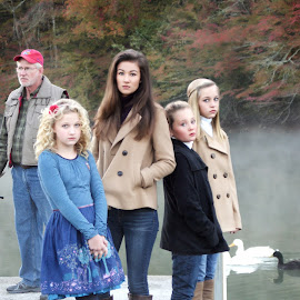 Colors of the Marina by Beth Schneckenburger - People Family ( water, lake, fishing, marina, mist )