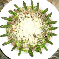 Asparagus Risotto With Shiitake Mushrooms