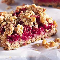 Raspberry & Pine Nut Bars