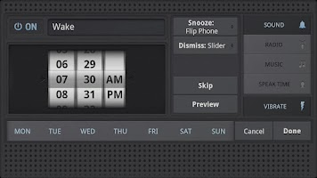 Screenshot of Rise Up! Radio/Alarm Clock