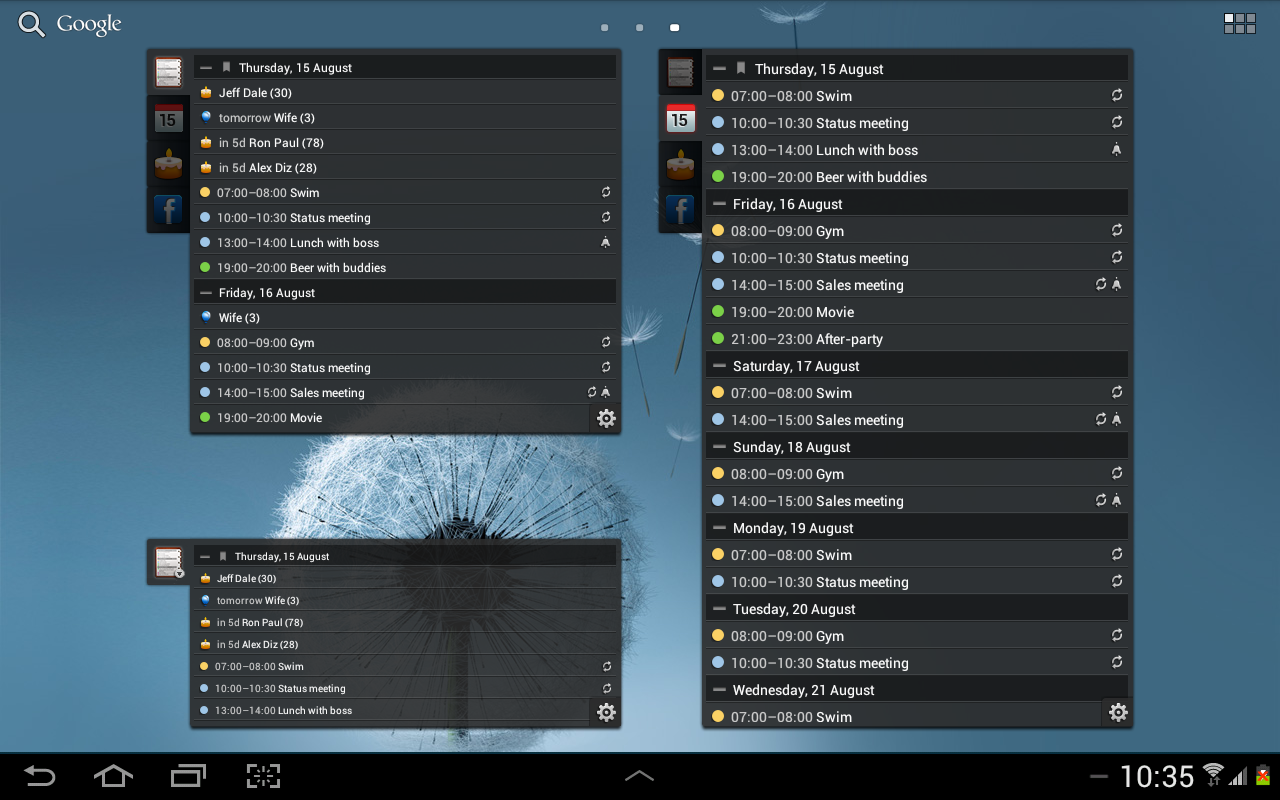 All-in-One Agenda widget Screenshot 9