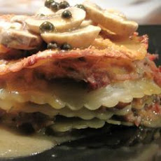Pulled Pork, Mushroom And Green Peppercorn Lasagne