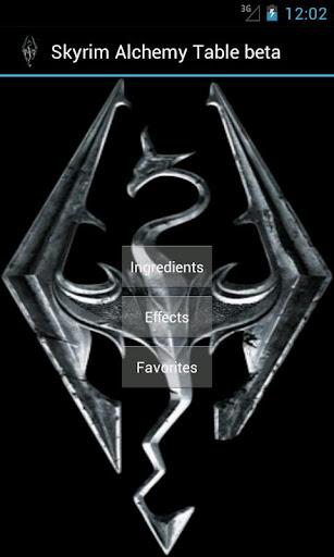 Skyrim Alchemy Table beta