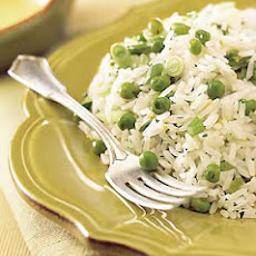 Jasmine Rice with Green Onions, Peas, and Lemon