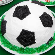 Soccer Ball Ice Cream Cake