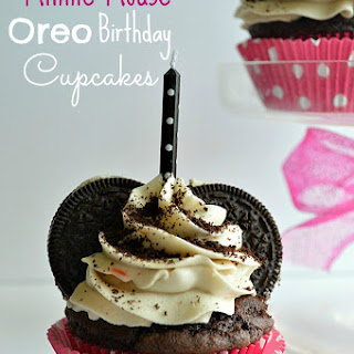 Minnie Mouse Oreo Birthday Cupcakes