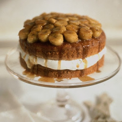 Banana Bourbon Layer Cake