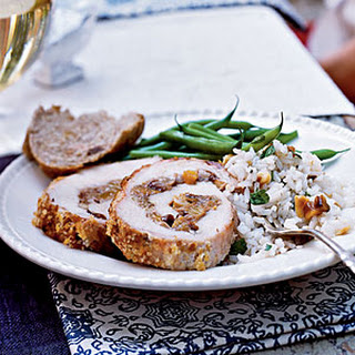 Fruit and Walnut-Stuffed Pork Loin