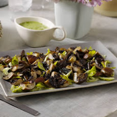 Roasted Mushrooms and Shaved Celery with Creamy Lemon Vinaigrette