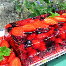 Summer Fruits Terrine or  Bodacious Berries in Wine Jelly!