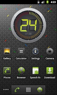 Circle digital clock. widget - screenshot