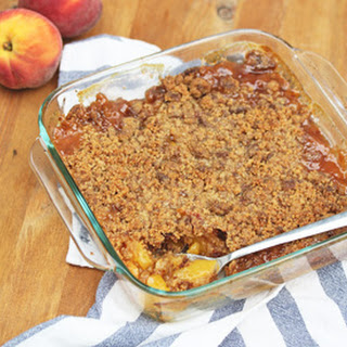 Peach Crisp with a Gingersnap Crumble Topping