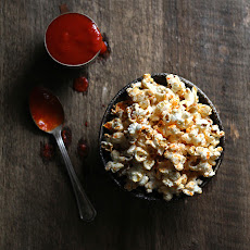 Sriracha-Coconut Popcorn with Smoked Sea Salt