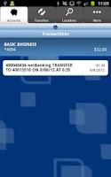Screenshot of Anchor Bank Mobile Application
