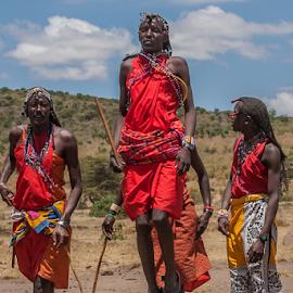 Masai by Wim Moons - People Street & Candids ( masai, masai mara, kenya, massai )