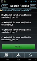 Screenshot of English Flashcards