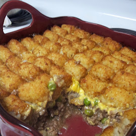 Tator tot casserole by Terry Linton - Food & Drink Cooking & Baking