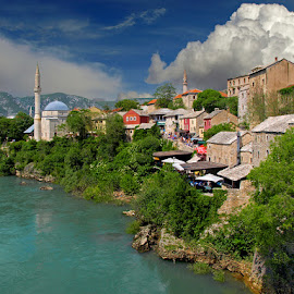 Mostar, Bosnia by Khaled Ibrahim - City,  Street & Park  Historic Districts