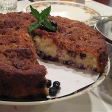Blueberry Cake with Brown Sugar Pecan Crumble