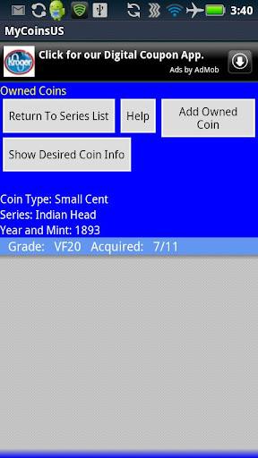 玩免費書籍APP|下載Coin Collecting - My US Coins app不用錢|硬是要APP