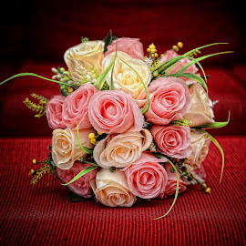 for bride by Safwan Hasbullah - Novices Only Objects & Still Life ( bouquet, red, still life, pink, yellow, flowers, objects )