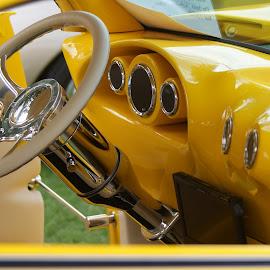 Custom 39 Ford  by Bill Gorman - Transportation Automobiles ( 1939, car show, yellow, roadster, hot rod, ford, custom,  )