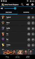 Screenshot of Animal Sounds Ringtones