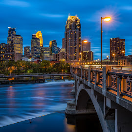 Upper Third by Mark Goodman - City,  Street & Park  Skylines ( minnesota, night photography, minneapolis )