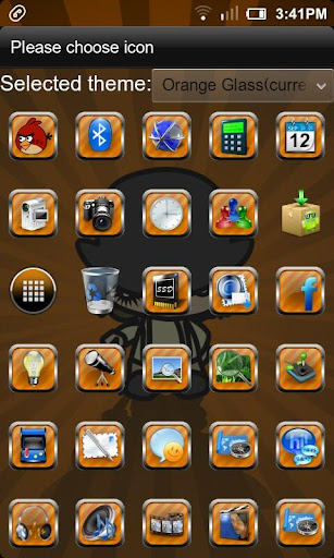 【免費個人化App】Orange Glass Go Launcher Theme-APP點子