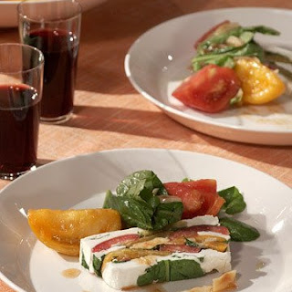 Arugula, Tomato, and Goat-Cheese Terrine