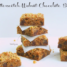 Butterscotch-Walnut-Chocolate Bars
