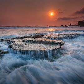 The Flow by Chandra Chung - Landscapes Waterscapes ( water, nature, indonesia, sunset, beach,  )