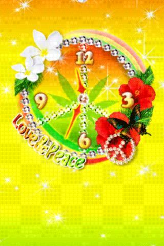 Tropical Reggae ClockWidget