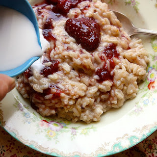 Strawberry Jam Rice Pudding